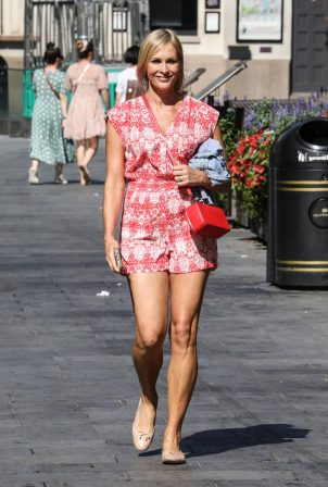 Jenni Falconer - In summer dress at the Global Radio Studios in London