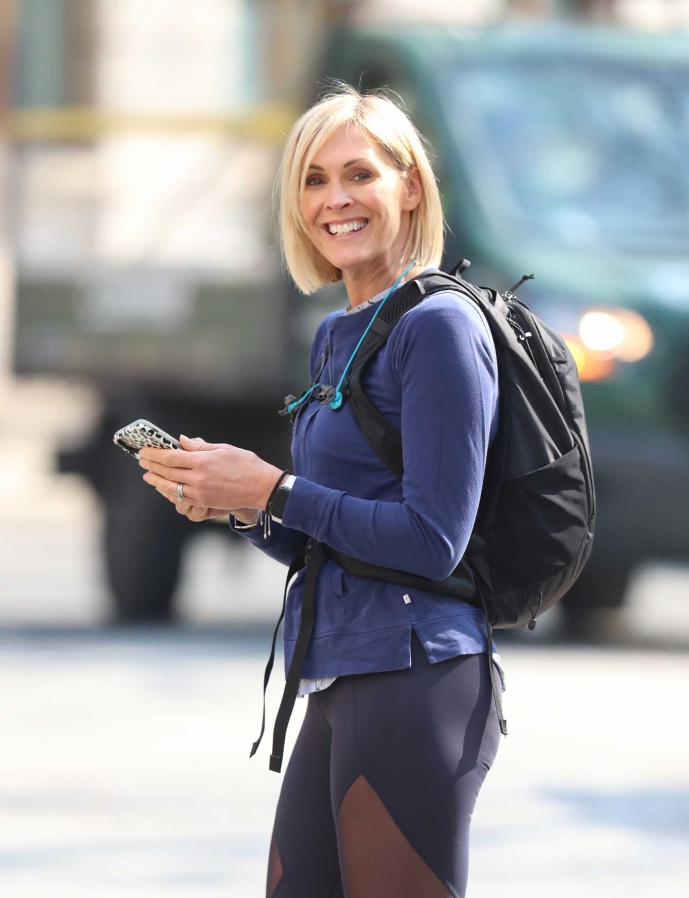 Jenni Falconer 2020 : Jenni Falconer in Tights – Goes for jog in London-03