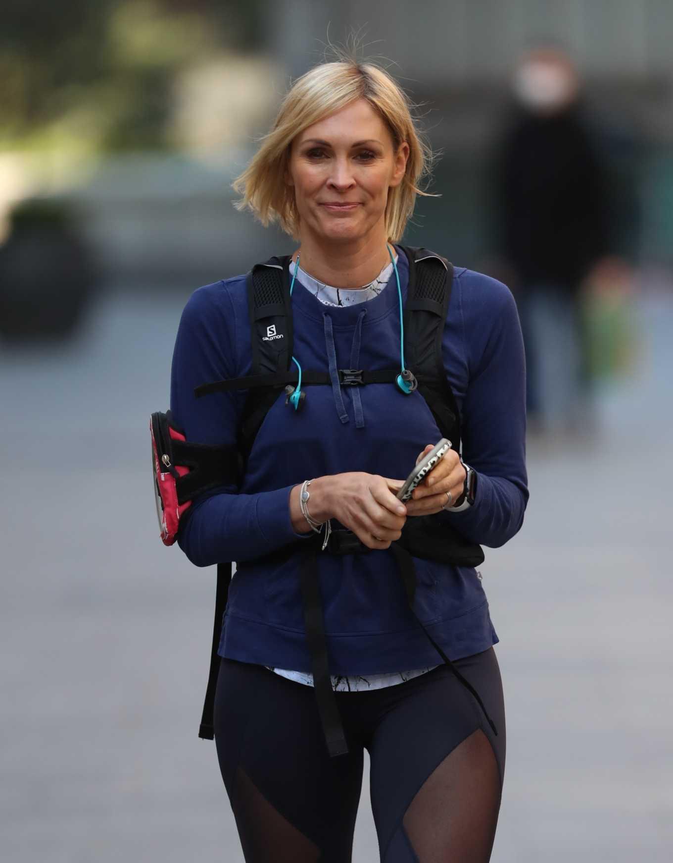 Jenni Falconer 2020 : Jenni Falconer in Tights – Goes for jog in London-12