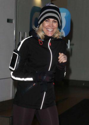 Jenni Falconer in Tights - Leaves Global Radio in London