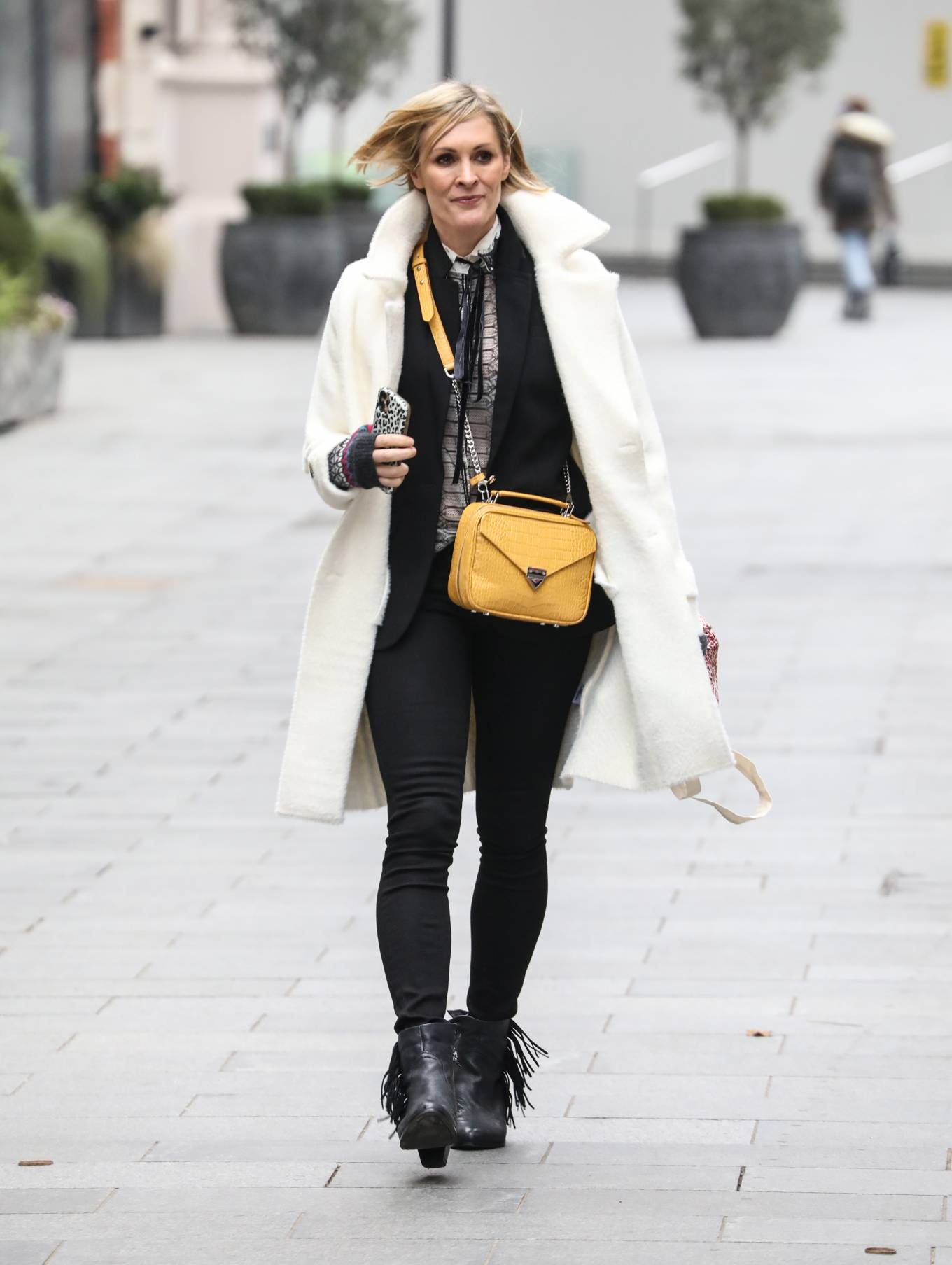 Jenni Falconer - Is seen at Global Radio Studios in London