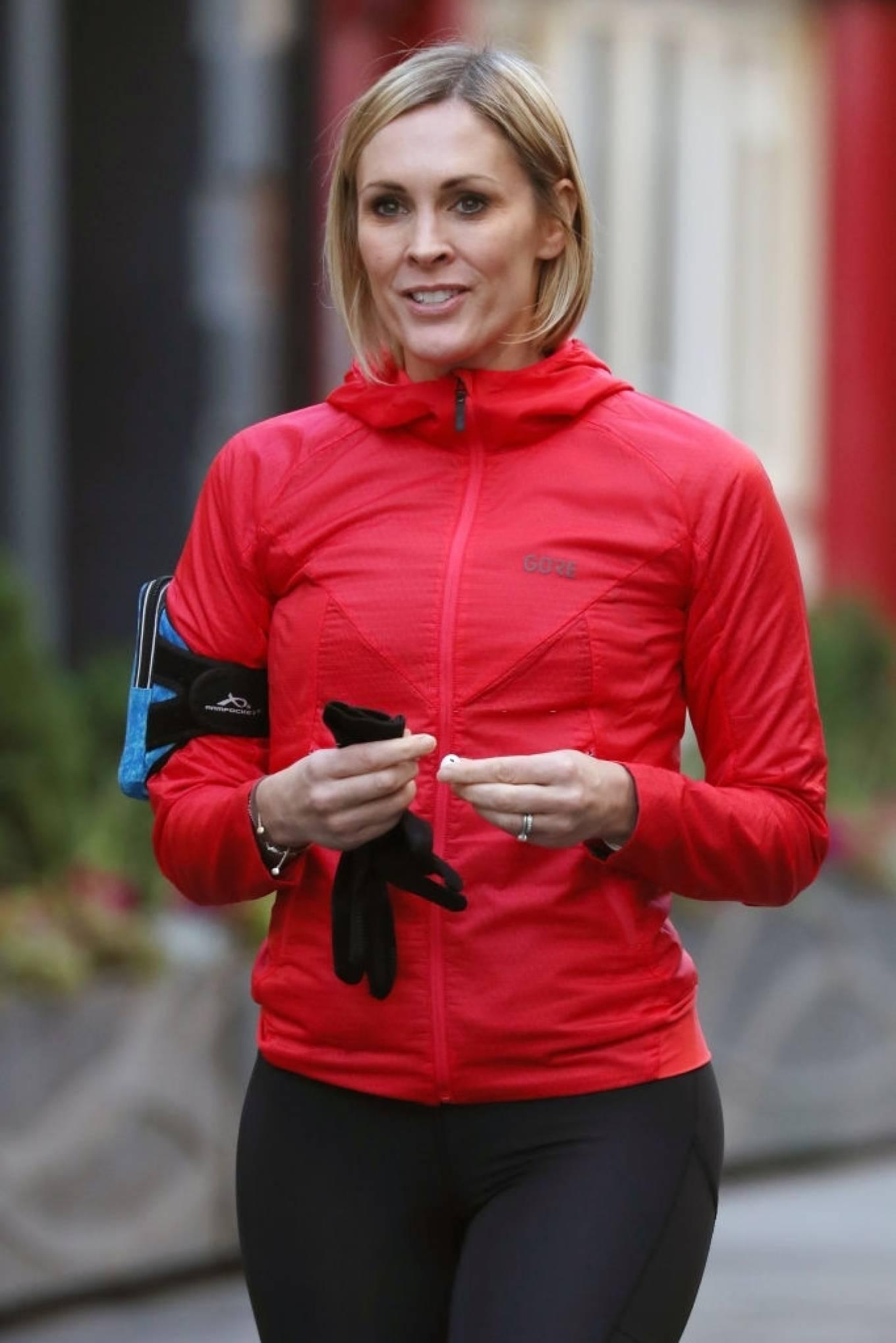 Jenni Falconer 2020 : Jenni Falconer – Looks sporty at Global Radio Studios in London -02