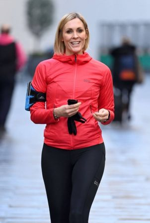 Jenni Falconer - Looks sporty at Global Radio Studios in London