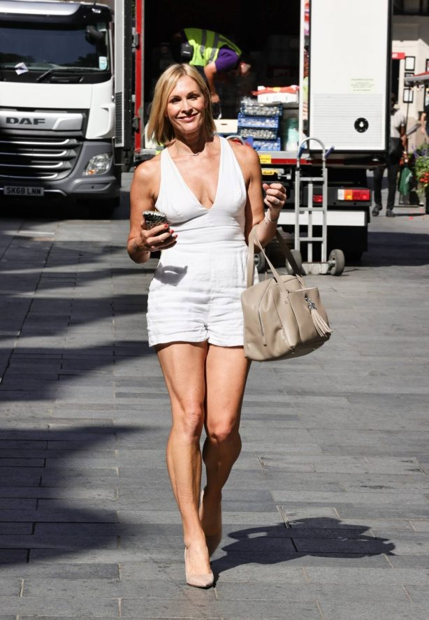 Jenni Falconer - Looks stylish at the Smooth Radio Studios