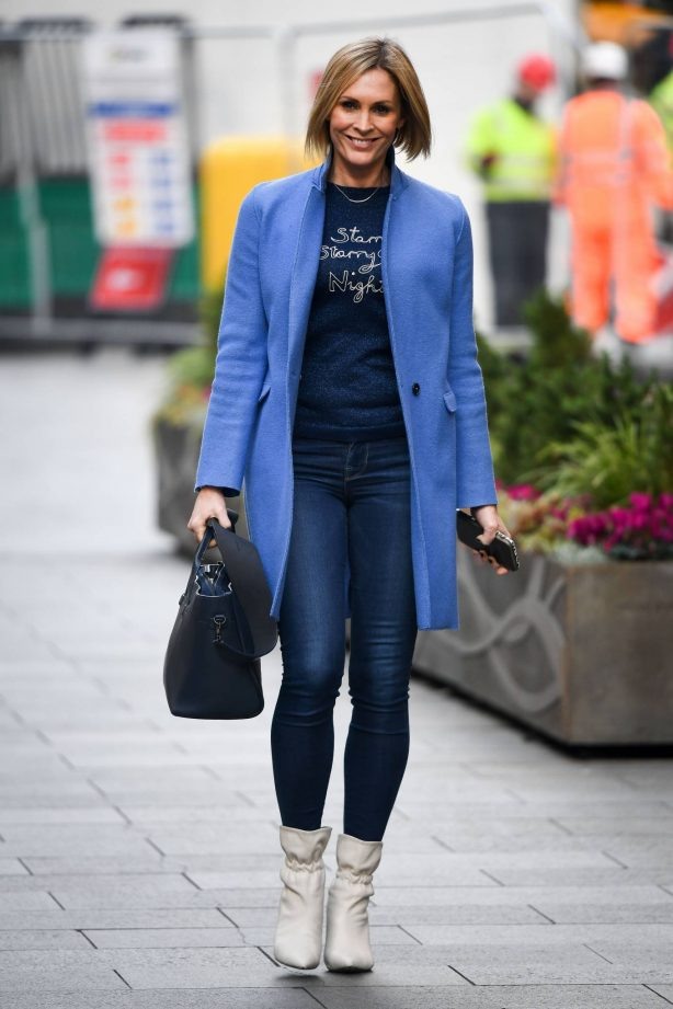 Jenni Falconer - Pictured after her Smooth Radio show in London