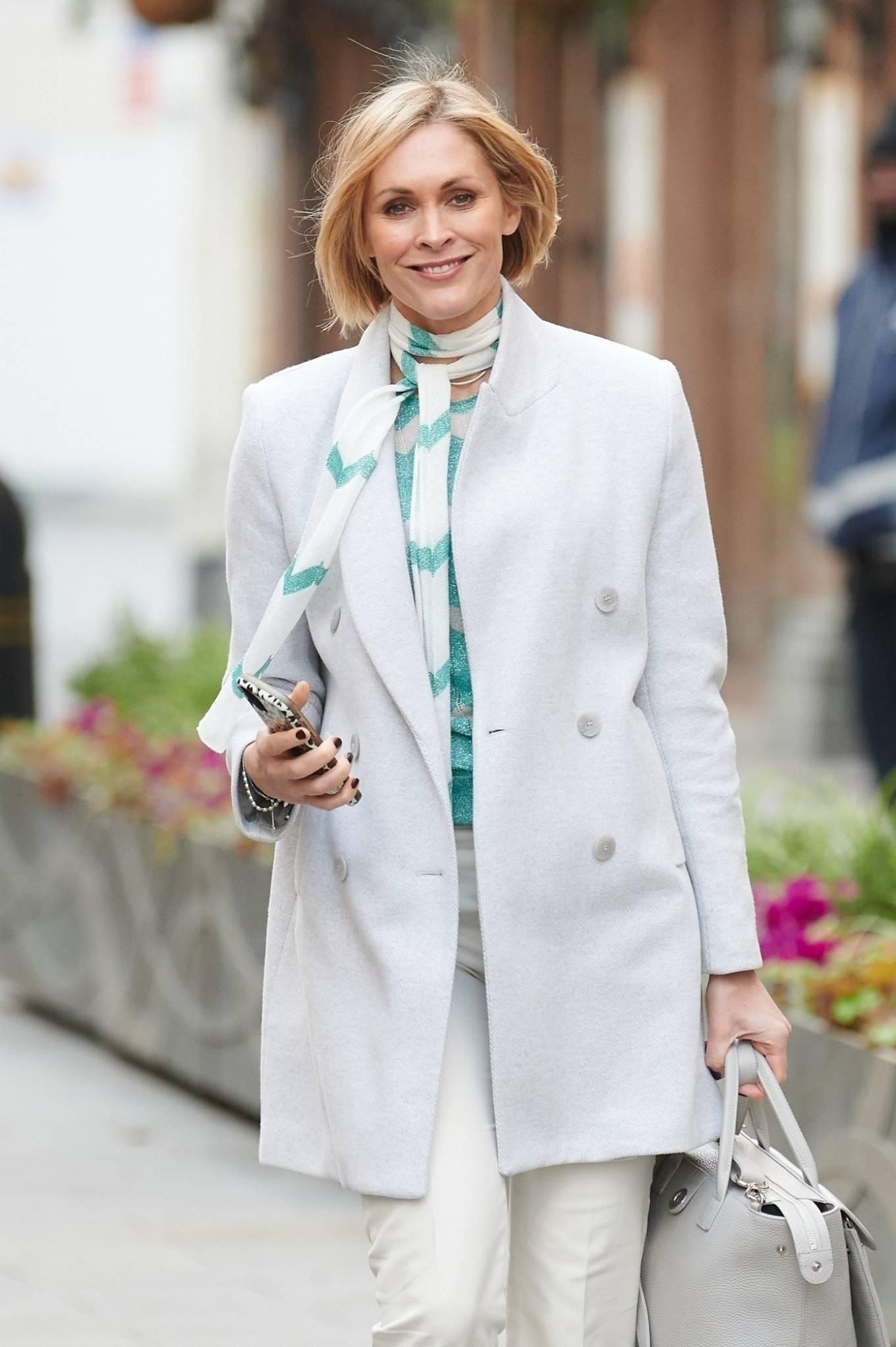 Jenni Falconer - Pictured leaving Global Radio in London