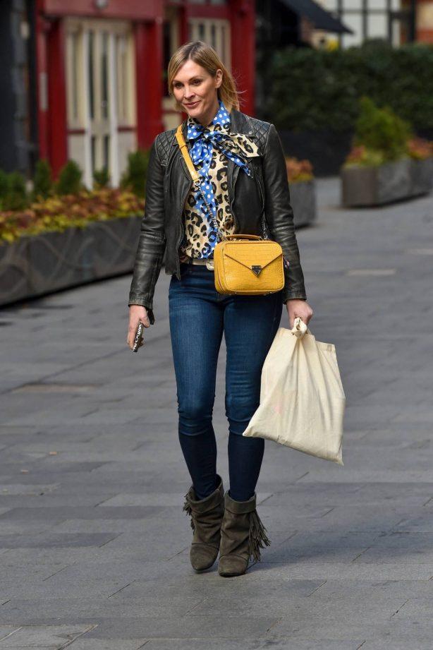 Jenni Falconer - Pictured leaving the Global studios
