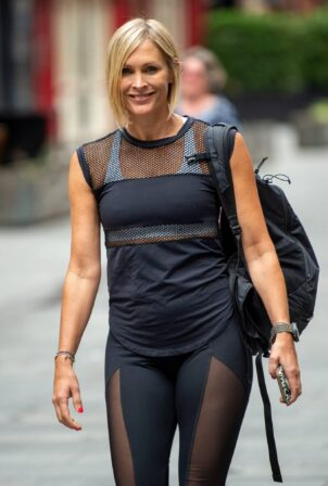 Jenni Falconer - Pictured outside the Global Radio studios in London