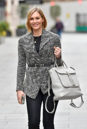 Jenni Falconer - Seen after her Smooth Radio show in London