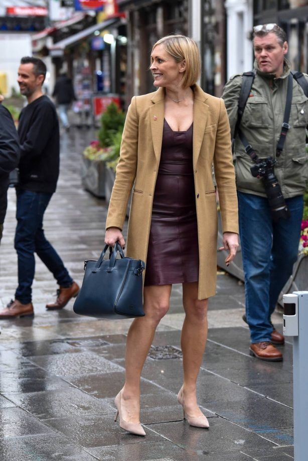 Jenni Falconer - Seen after Smooth Radio show in London