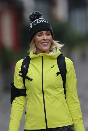 Jenni Falconer - Seen at Global Radio in London