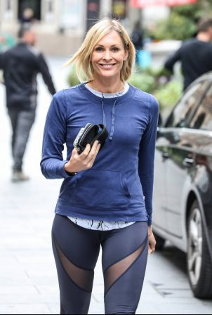 Jenni Falconer - Seen at the Global Radio studios in London