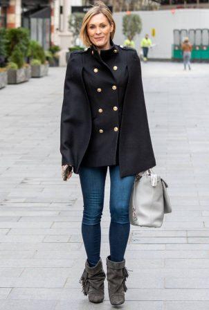 Jenni Falconer - Seen in a skinny denim while leaving Global Studios in London