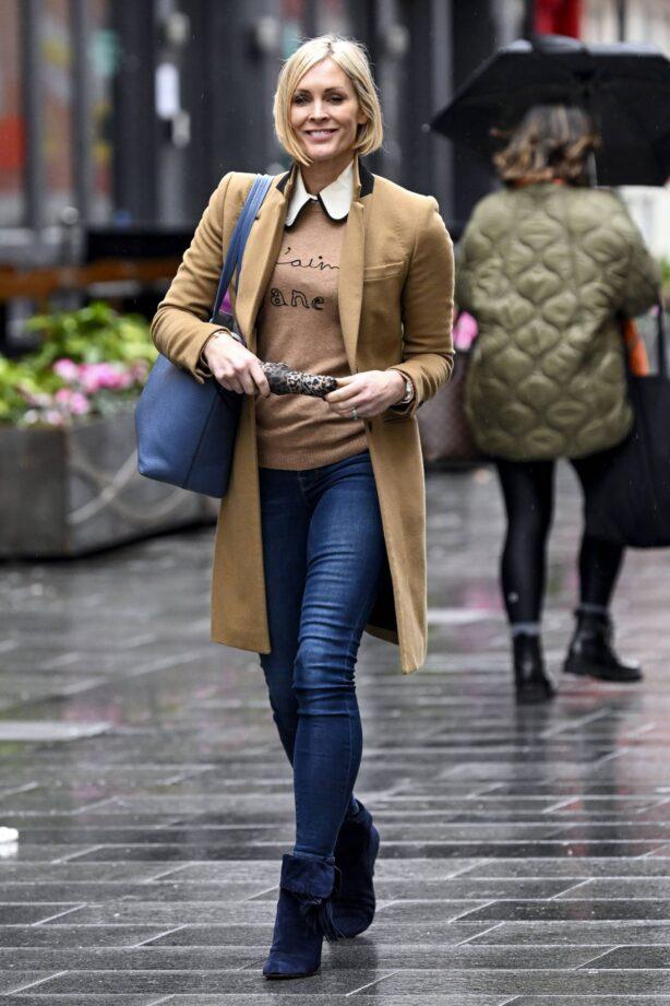 Jenni Falconer - Seen leaving Global Studios in London