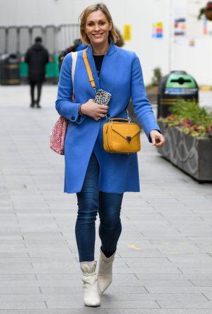 Jenni Falconer - Seen leaving Global Studios