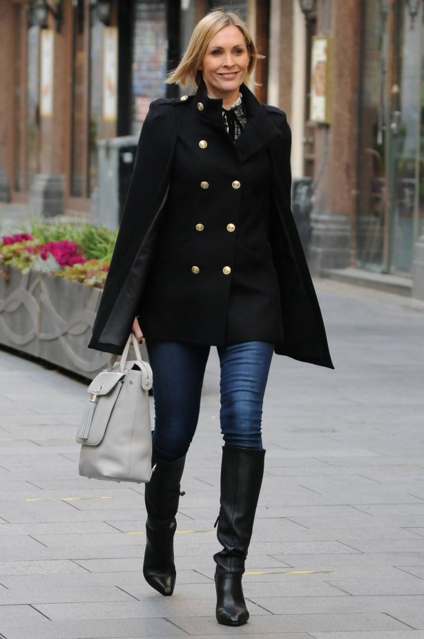 Jenni Falconer - Seen leaving Smooth FM in London