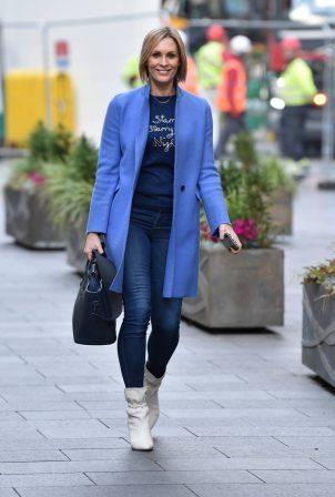Jenni Falconer - Seen leaving the Global studios in London