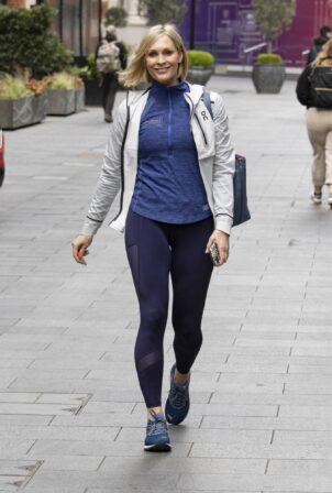 Jenni Falconer - Spotted Leaving Global Radio in Leicester Square, Central London