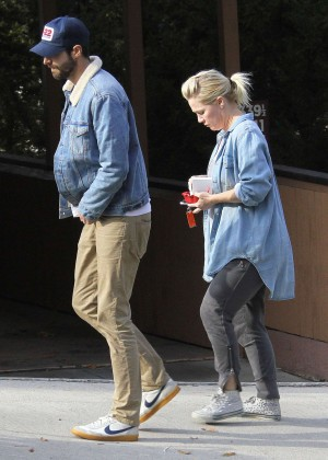 Jennie Garth and David Abrams out in Los Angeles