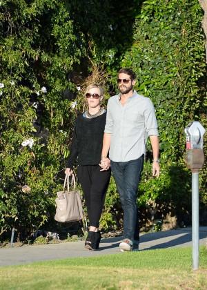 Jennie Garth with fiance David Abrams -09