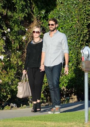 Jennie Garth with fiance David Abrams -13