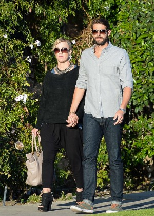 Jennie Garth with fiance David Abrams Out in Studio City