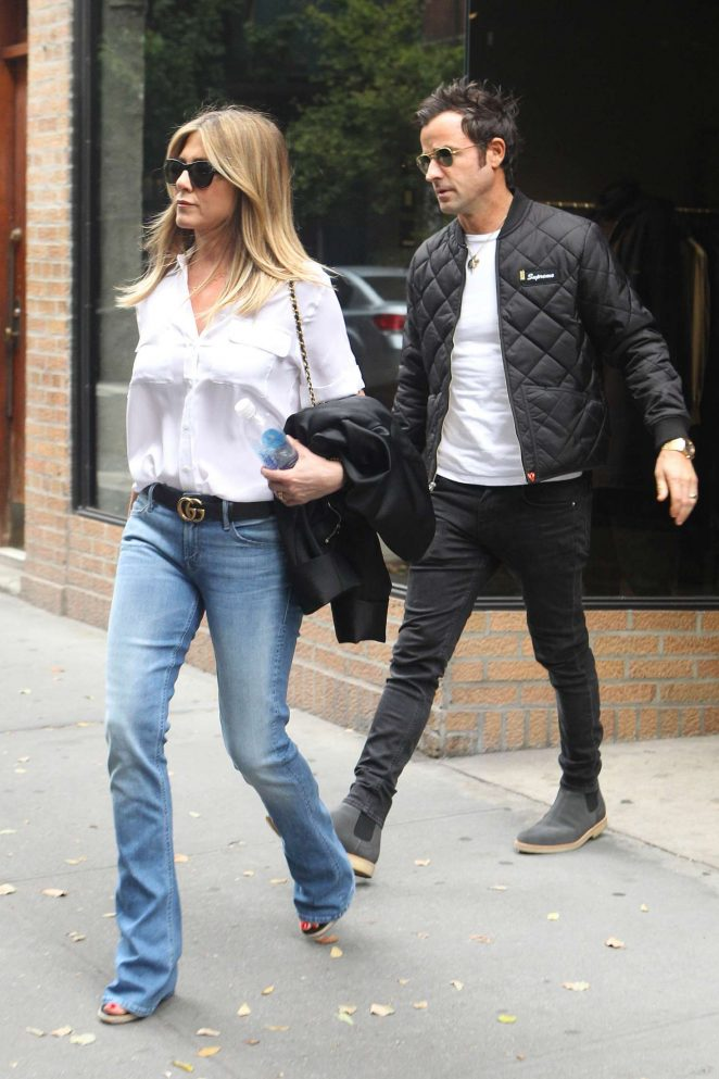 Jennifer Aniston and Justin Theroux Shopping in New York