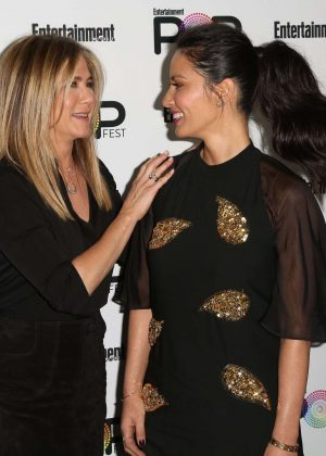 Jennifer Aniston and Olivia Munn - Entertainment Weekly PopFest in Los Angeles