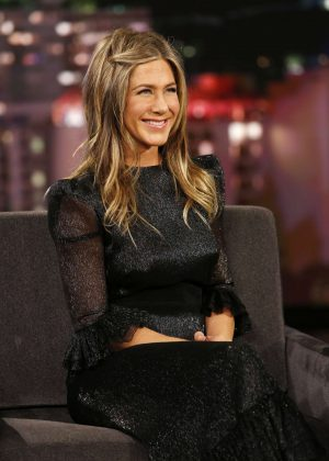 Jennifer Aniston - Apperiance on Jimmy Kimmel Live in Hollywood