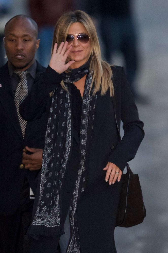 Jennifer Aniston - Arriving at Jimmy Kimmel Live! in Los Angeles