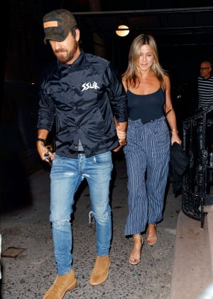 Jennifer Aniston at Blue Hill Restaurant in New York