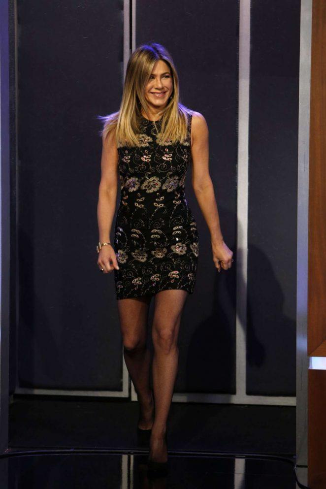 Jennifer Aniston at Jimmy Kimmel Live! in Los Angeles