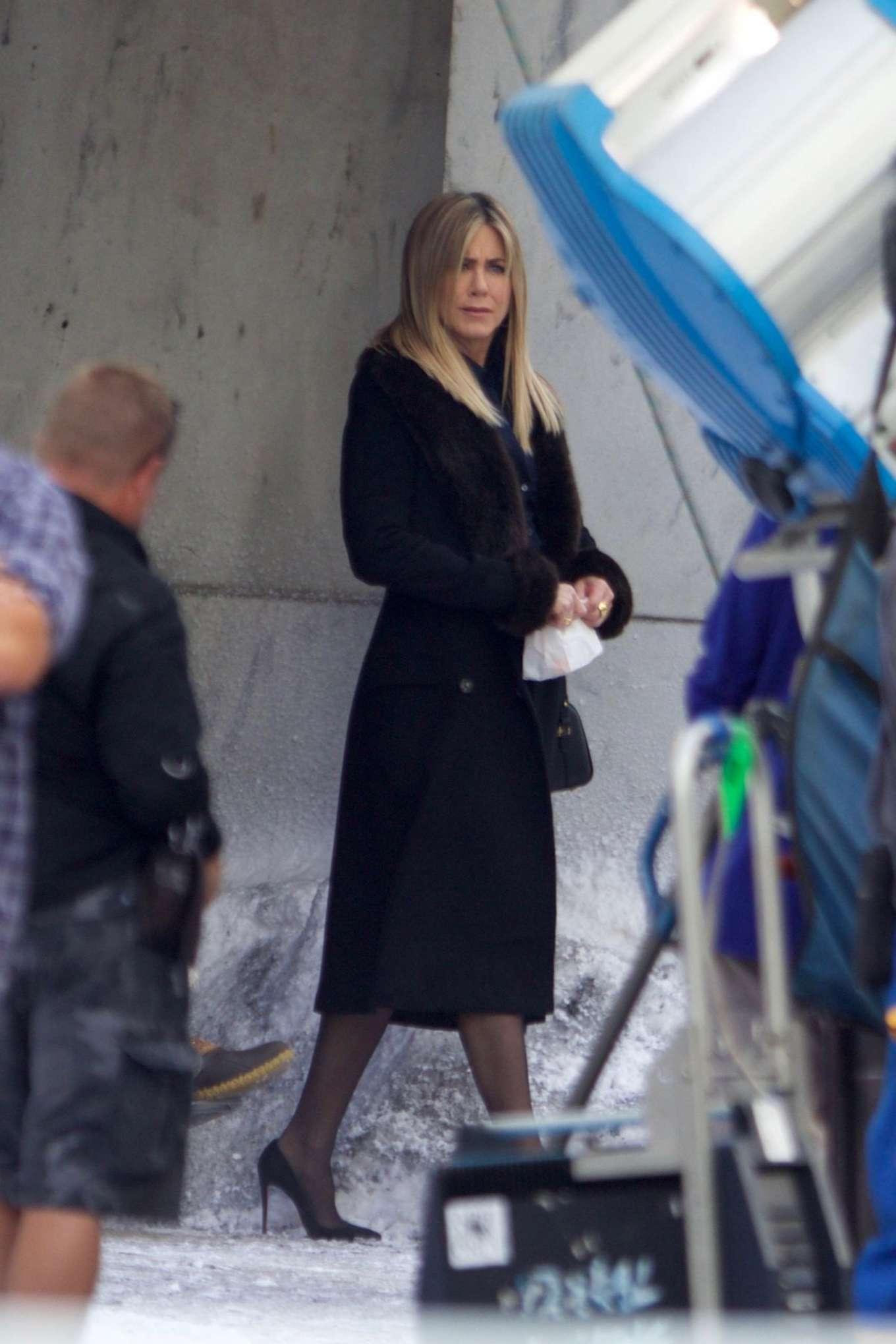 Jennifer Aniston: Filming Office Christmas Party -01 – GotCeleb