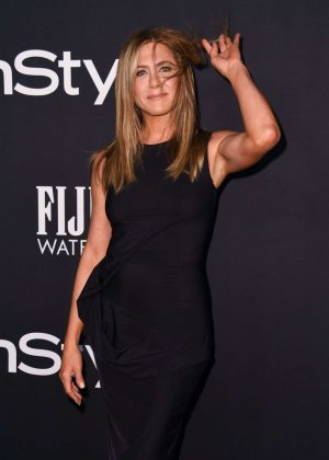 Jennifer Aniston - In black long dress at 2018 InStyle Awards in Los Angeles