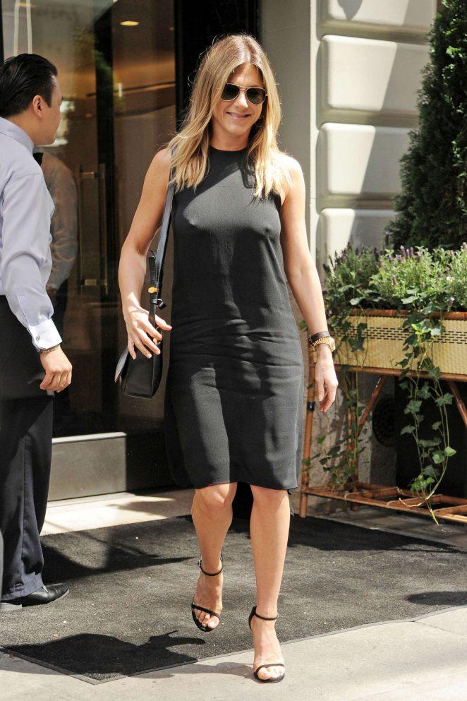 Jennifer Aniston In Black Mini Dress 09 Gotceleb