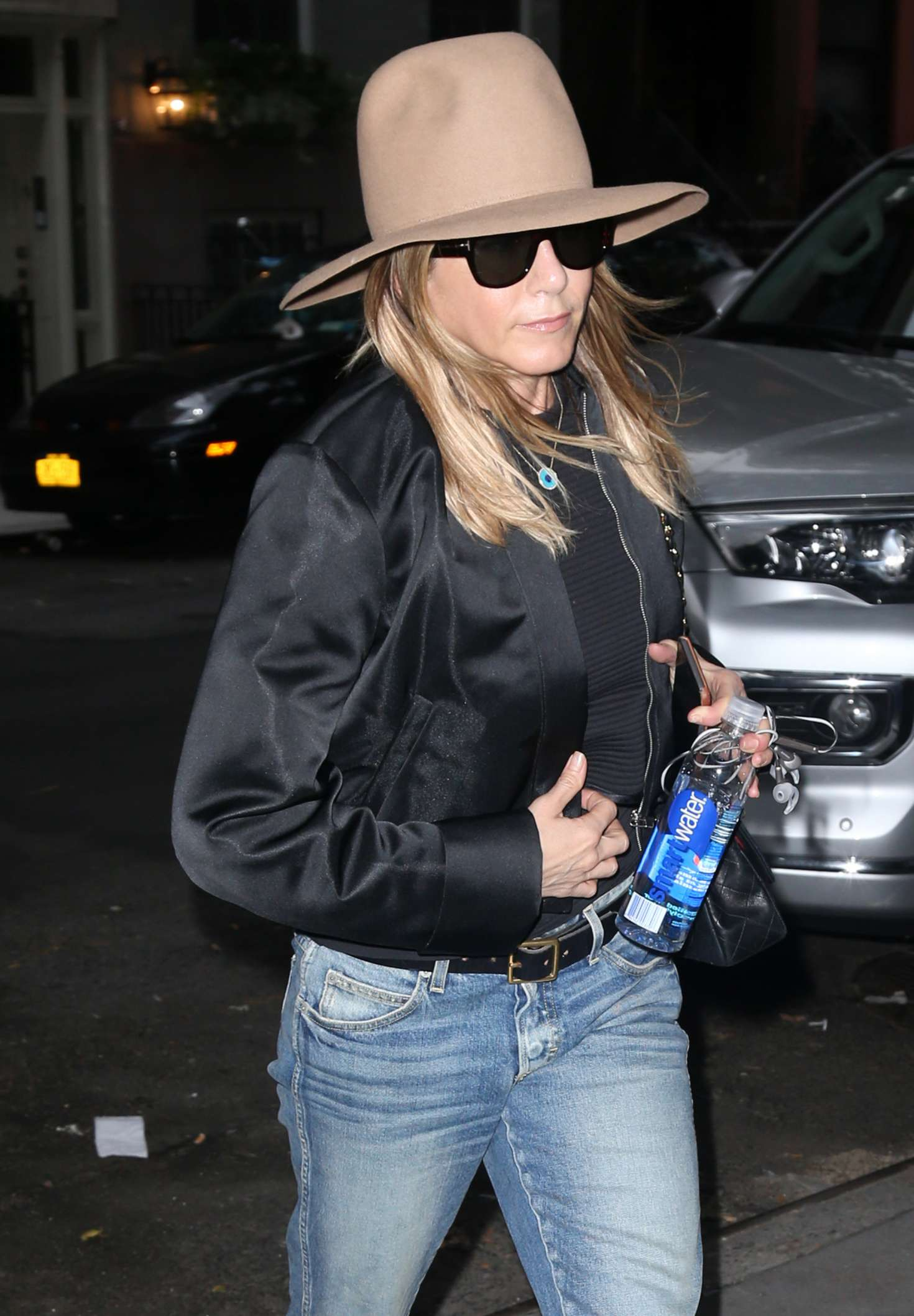 Jennifer Aniston in Jeans and Hat out in New York City
