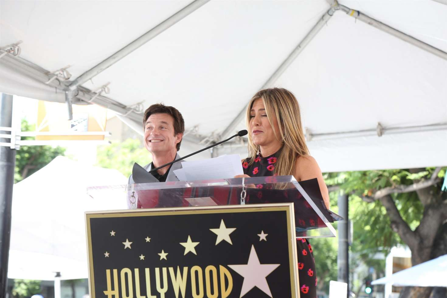 Jennifer Aniston – Jason Bateman Hollywood Walk Of Fame Ceremony in Hollywood   Jennifer-Aniston:-Jason-Bateman-Hollywood-Walk-Of-Fame-Ceremony--51