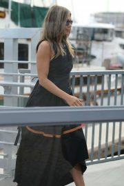 Jennifer Aniston - Leaving a yacht in Marina Del Rey