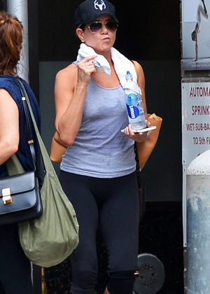 Jennifer Aniston - Leaving her workout in New York City