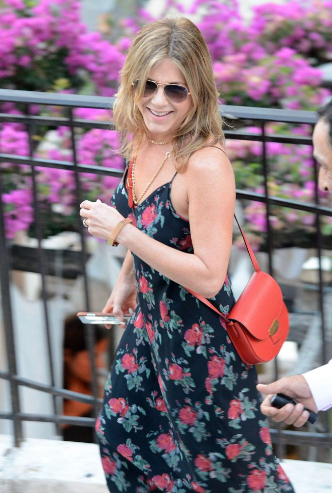 Jennifer Aniston on holiday in Positano