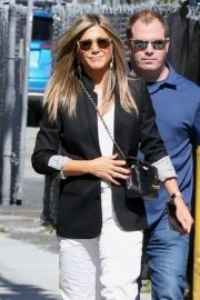 Jennifer Aniston - Promotes 'Murder Mystery' at Jimmy Kimmel Live! in Hollywood