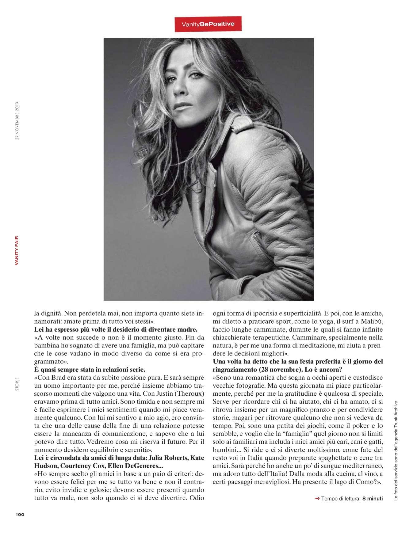 Jennifer Aniston 2019 : Jennifer Aniston – Vanity Fair Italy 2019-01