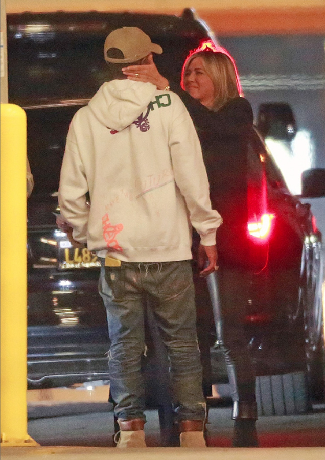 Jennifer Aniston with Pharrell Williams at Ellen Degeneres Birthday Party in Hollywood