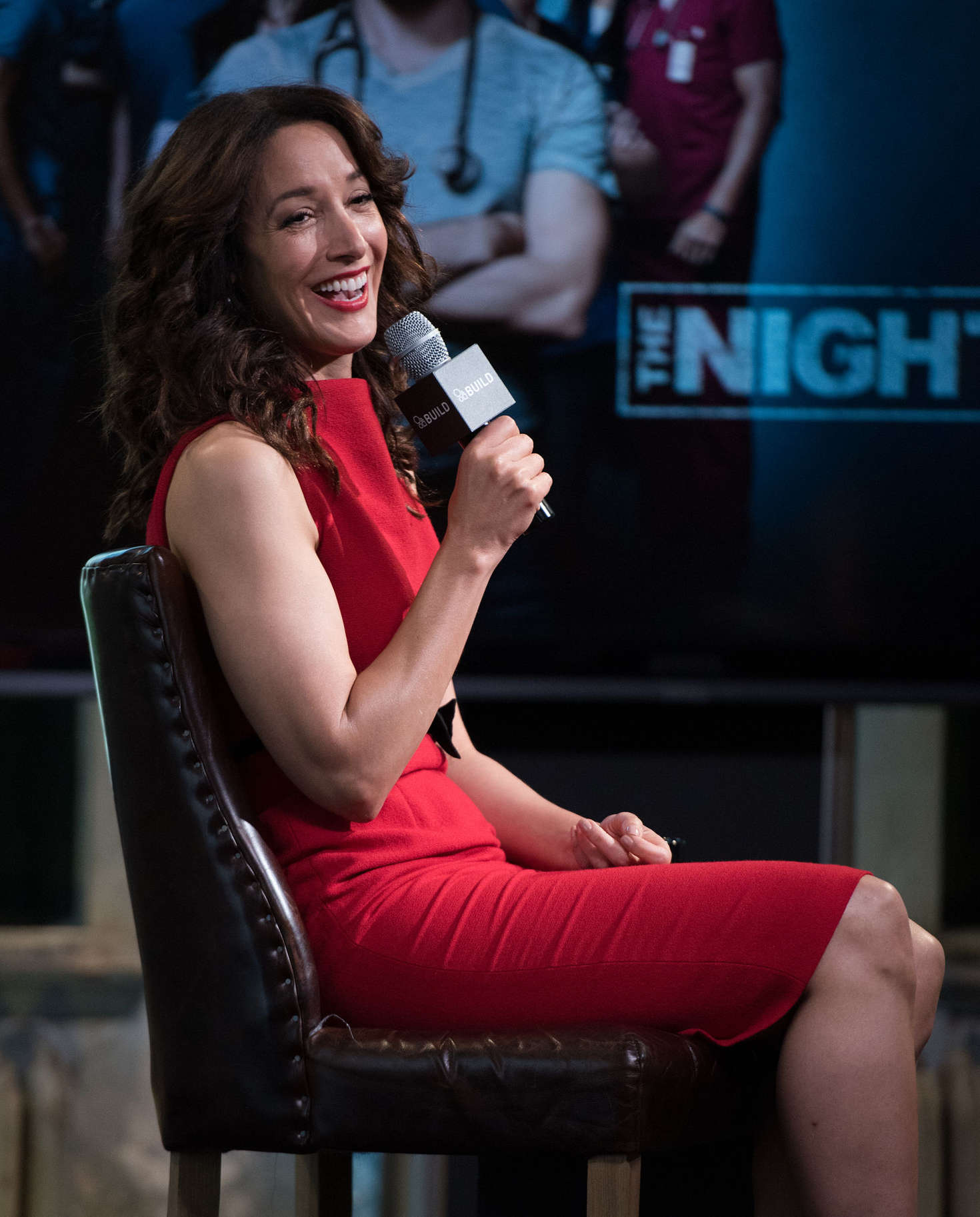Jennifer Beals at AOL Build -15