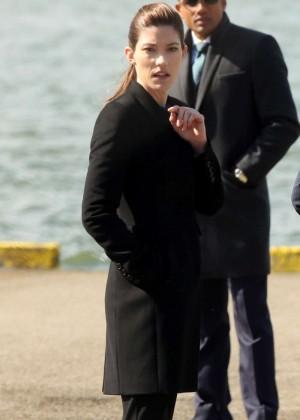 Jennifer Carpenter - On The Set Of 'Limitless' in New York