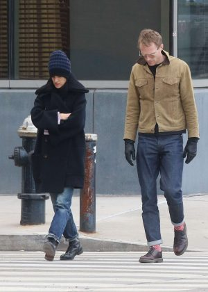 Jennifer Connelly and Paul Bettany out and about in New York