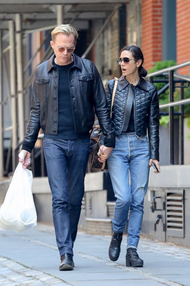 Jennifer Connelly and Paul Bettany out in New York
