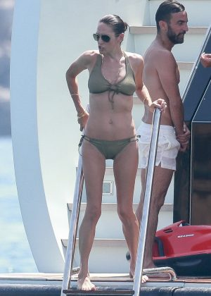 Jennifer Connelly in bikini on vacation in Ibiza