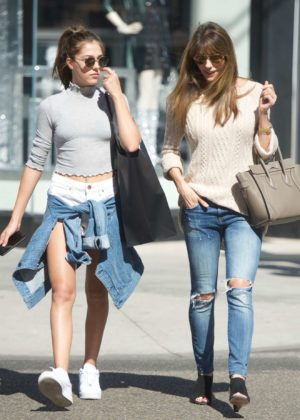 Jennifer Flavin and Sistine Stallone - Shopping at Chanel on Rodeo Drive
