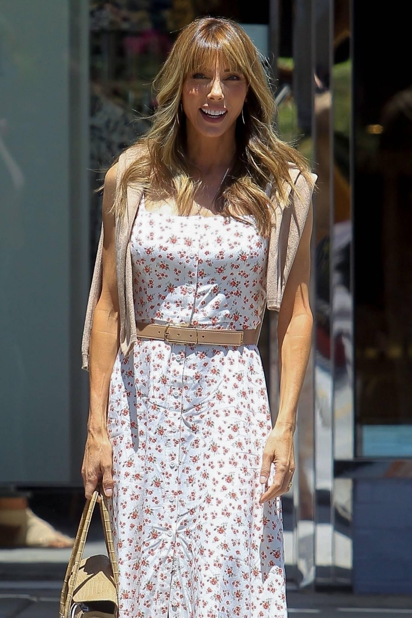 Jennifer Flavin - In summer dress out in Beverly Hills